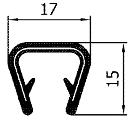 Flexibles Kantenschutzprofil