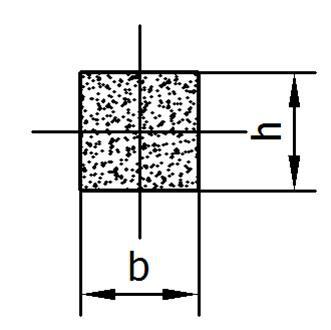 Viton-Kautschuk Rechteckprofil